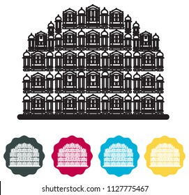 Historical Icon Jaipur City - Hawa Mahal Icon Illustration as EPS 10 File