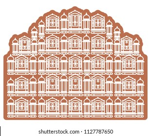 Historical Icon Jaipur City - Hawa Mahal Icon Illustration as EPS 10 File