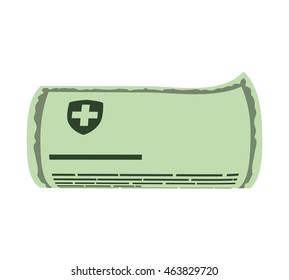 History document medical health care icon. Isolated and flat illustration. Vector graphic