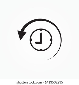 History Icon. history line icon, outline and solid vector logo, linear pictogram isolated on white, pixel perfect illustration
