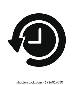 History icon vector,  logo, pictogram isolated on white, symbol illustration