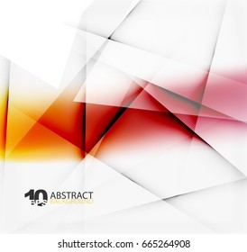 Hi-tech or business futuristic blurred template, blurred colors with shadow