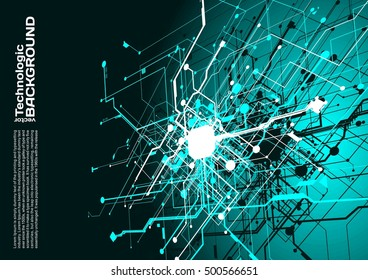 hi-tech circuits industrial abstract background electronic