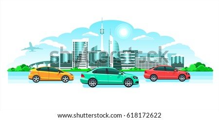 c093e0c5f1 ... Vector (Royalty Free) 618172622 - Shutterstock. Hi-tech cool city   cars