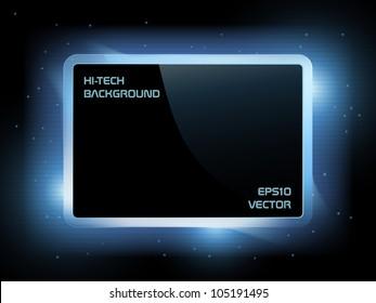 Hi-tech futuristic screen background, EPS10 vector