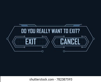 Hi-tech game exit menu