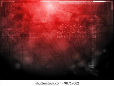 Hi-tech grunge design. Vector background eps 10
