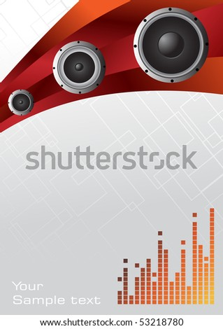 Hitech Music Background Clipart Stock Vector Royalty Free 53218780