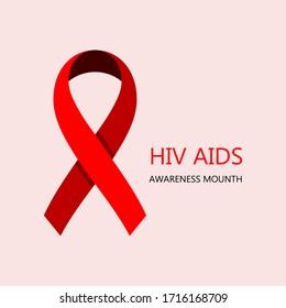 HIV AIDS Awareness Vector Illustration