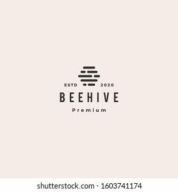 hive digital logo hipster vintage retro vector icon symbol