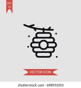 Hive vector icon, simple honey symbol sign, modern vector illustration for web, mobile design