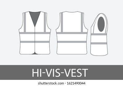 hi-vis-vest black and white tech pack