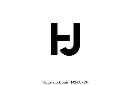 hj and jh or j and h alphabet letter logo monogram design