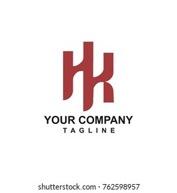 HK letter logo