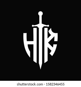 HK logo with shield shape and sword