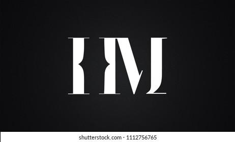 HM Letter Logo Design Template Vector