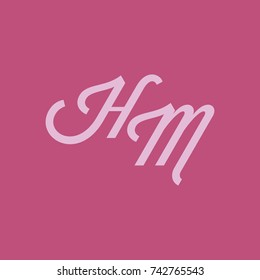 HM Letter logo with square background
