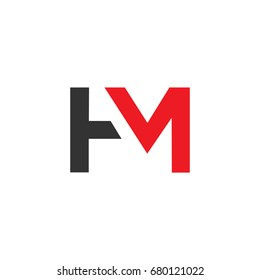 HM logo design using letters H and M in editable vector format.