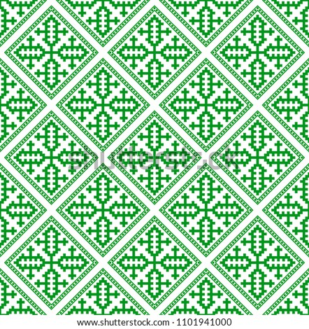 Hmong Pattern Seamless Texture Background Green Stock Vector Mesmerizing Hmong Pattern