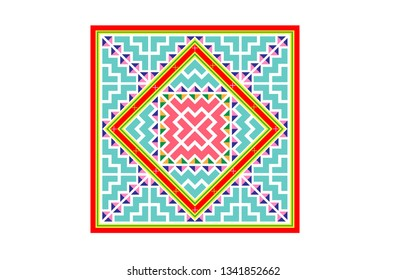 Hmong traditional pattern to made clothes like shirt, skirt and other hmong cothes. hmong hand made pattern. seamless pattern. vector illustration.