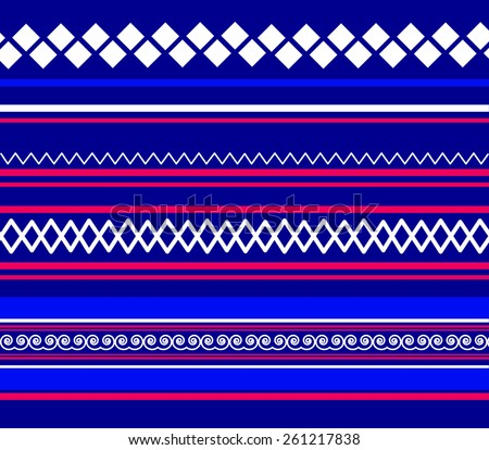 Hmong Traditional Textile Fabric Pattern Design Stock Vector Stunning Hmong Pattern