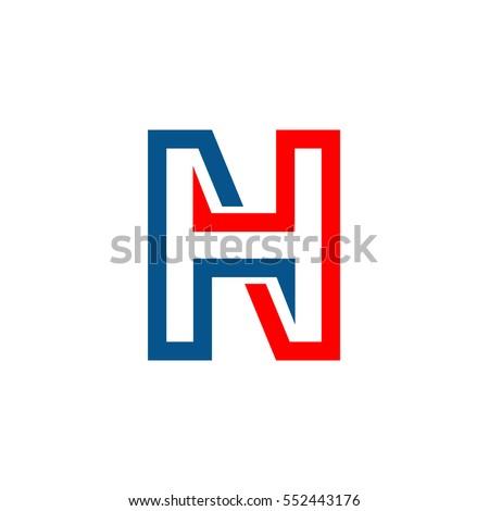 HN Initial Logo」のベクター画...