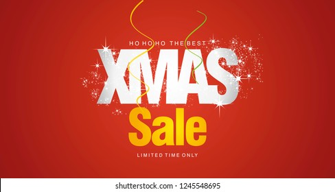 Ho ho ho Christmas Sale limited time only red background