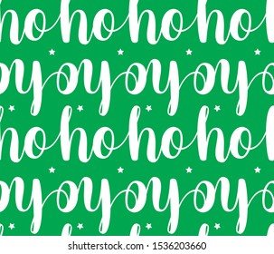 ho ho ho cristmas santa vctor pattern illustration on green background