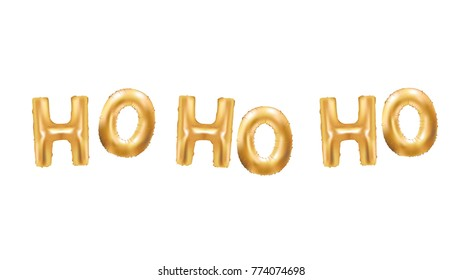 Ho ho ho Gold Balloons New Year