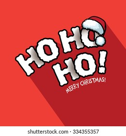 Ho Ho Ho! Merry Christmas typography design. EPS 10 vector illustration