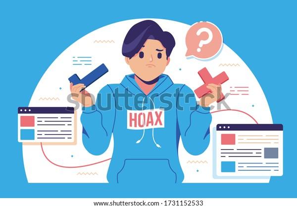 hoax fake news illustration background