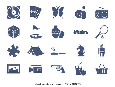 Hobbies Icons Set Vol.2