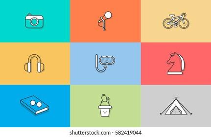Hobbies vector icon illustration