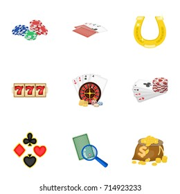 Hobby, entertainment, recreation and other web icon in cartoon style., Winning, excitement, casino, icons in set collection.