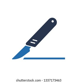Hobby Knife Sharp Blade Icon, Surgery knife icon, Scalpel icon vector on white background, scalpel trendy filled icons from Medical collection