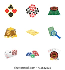 Hobby, player, debt and other web icon in cartoon style. Game, casino, entertainment, icons in set collection.