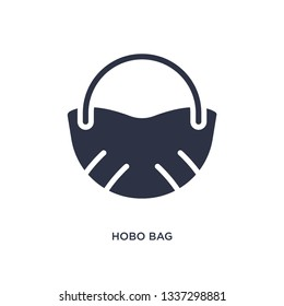 hobo bag isolated icon. Simple element illustration from clothes concept. hobo bag editable logo symbol design on white background. Can be use for web and mobile.