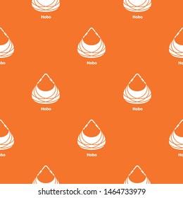 Hobo bag pattern vector orange for any web design best
