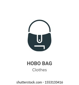 Hobo bag vector icon on white background. Flat vector hobo bag icon symbol sign from modern clothes collection for mobile concept and web apps design.