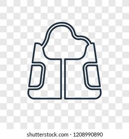 Hobo shoulder bag concept vector linear icon isolated on transparent background, Hobo shoulder bag concept transparency concept in outline style