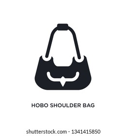 hobo shoulder bag isolated icon. simple element illustration from woman clothing concept icons. hobo shoulder bag editable logo sign symbol design on white background. can be use for web and mobile