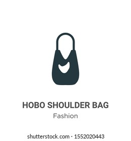 Hobo shoulder bag vector icon on white background. Flat vector hobo shoulder bag icon symbol sign from modern fashion collection for mobile concept and web apps design.