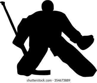 Hockey Goalie Silhouette Images Stock Photos Vectors Shutterstock