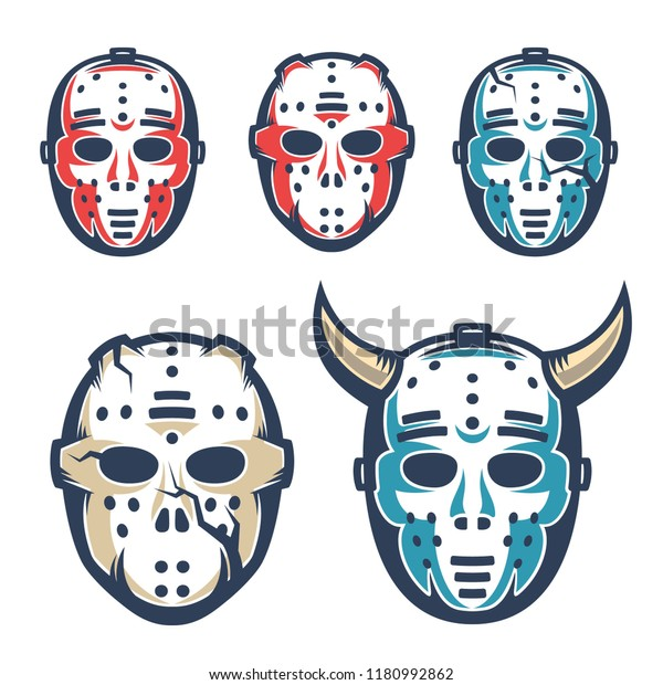 Hockey Goalie Mask Retro Vintage Style Stock Vector Royalty Free