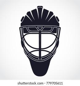 hockey goalkeeper helmet / mask symbol