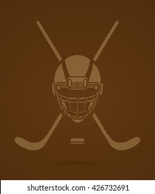 Hockey helmet designed using dots pattern graphic vector.