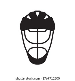 Hockey helmet protection logo concept