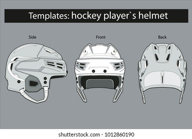 The Hockey Helmet Template Of Defenders Player Or Attacker Under Coloring Providing Color