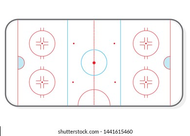 Hockey ice rink vector illustration background layout