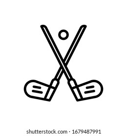 Hockey icon. Flat vector graphic in white background.